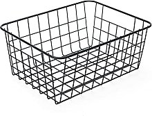 Modern Metal Copper Wire Mesh Storage Basket White
