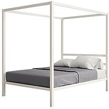 Modern Metal Double Canopy Bed