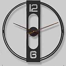 Modern Metal Large Wall Clock,Round European Retro
