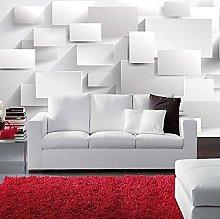 Modern Minimalist Artistic Wall Mural White Brick