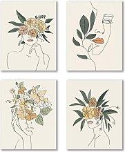 Modern Minimalist Fashion Pop Women Prints Flower
