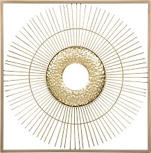 Modern Minimalist Sleek Slender Square Gold Wall