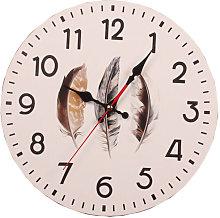 Modern minimalist wood wall clock MDF mute wall