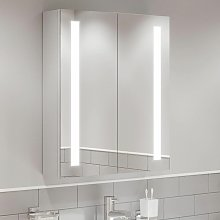 Modern Mirror Cabinet LED Illuminated Wall Mounted