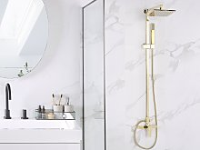 Modern Mixer Set Gold Brass Rainfall Hand Shower