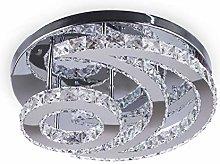 Modern Moon K9 Crystal Chandelier Lighting Flush