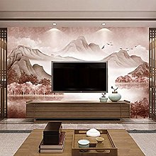Modern New Chinese Mural Sofa Paper Wall Covering