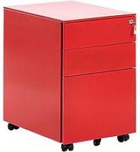 Modern Office Storage Cabinet 3 Drawers Key Lock