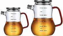 Modern Olive Oil Dispenser Bottle Set of 2,Glass
