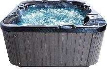 Modern Outdoor Hot Tub Grey Black Acrylic Hydro