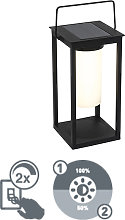Modern outdoor lamp black incl. LED and dimmer