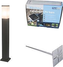 Modern Outdoor Pole 80cm Dark Grey with Ground Pin