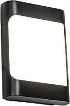 Modern outdoor wall lamp black incl. LED IP44 -