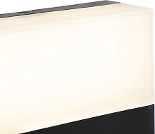 Modern outdoor wall lamp black IP44 incl. LED -