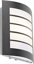 Modern outdoor wall lamp black IP44 - Miro