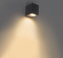 Modern outdoor wall lamp gray IP44 - Baleno I.