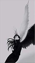 Modern painting White Angel Wings Art Poster Print