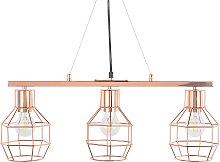 Modern Pendant Cage Lamp 3 Lights Lampshade