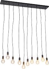 Modern Pendant Lamp 140cm Black - Facil 10