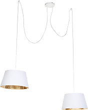 Modern Pendant Lamp 2 White - Lofty