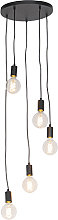 Modern Pendant Lamp 35cm Black - Facil 5