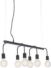 Modern Pendant Lamp 6 Black - Facile