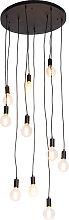 Modern Pendant Lamp 60cm Black - Facil 10
