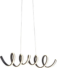 Modern Pendant Lamp Black Large incl. LED - Twisted