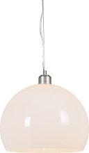 Modern Pendant Lamp with Opal Shade - Globe