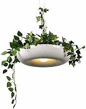 Modern Pendant Light White Metal Hanging Lamp for