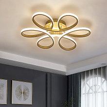 Modern Petal LED Chandelier Ceiling Light, Gold