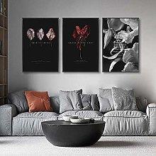 Modern Plant Leaves Flowers Wall Art Poster print