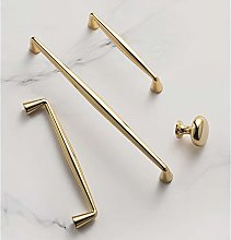Modern Polished Gold Appliance Pull Cabinet Knobs