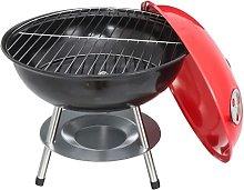 Modern Portable Lightweight 14 inch Red BBQ Grill
