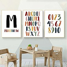 Modern Poster Letter Canvas Painting Alphabet