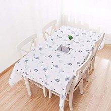 Modern Pvc Waterproof Tablecloth Printed Plastic