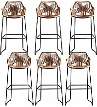 Modern Rattan Stools Dining Outdoor Counter Woven