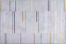 Modern Rectangular Living Room Fabric Rug 140 x