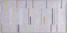 Modern Rectangular Living Room Fabric Rug 80 x