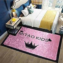 Modern Retro Animal Flower Carpet Thick Waterproof