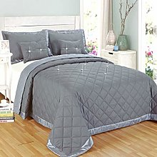 Modern Reversible Bed Throw 5 Piece Quilted