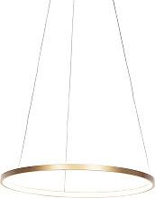 Modern ring hanging lamp gold 60 cm incl. LED -