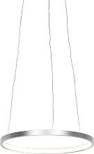 Modern ring hanging lamp silver 40 cm incl. LED -
