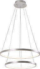 Modern ring hanging lamp silver incl. LED - Anella
