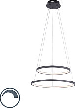 Modern ring pendant lamp anthracite incl. LED