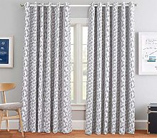 Modern Ring Top Eyelet Curtain Pair Fully Lined