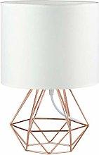 Modern Rose Gold Desk Table Lamps for Living Room