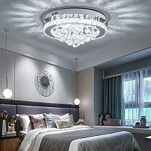 Modern Round LED Ceiling Light Crystal Chandelier