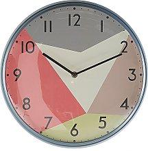 Modern Round Wall Clock Black Hands Multicoloured