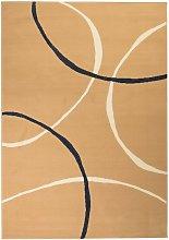 Modern Rug Circle Design 120x170 cm Brown
